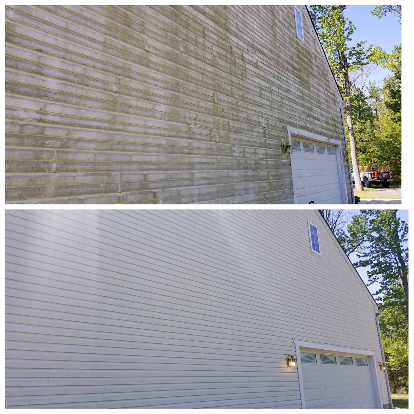 House washing, Pressure washing