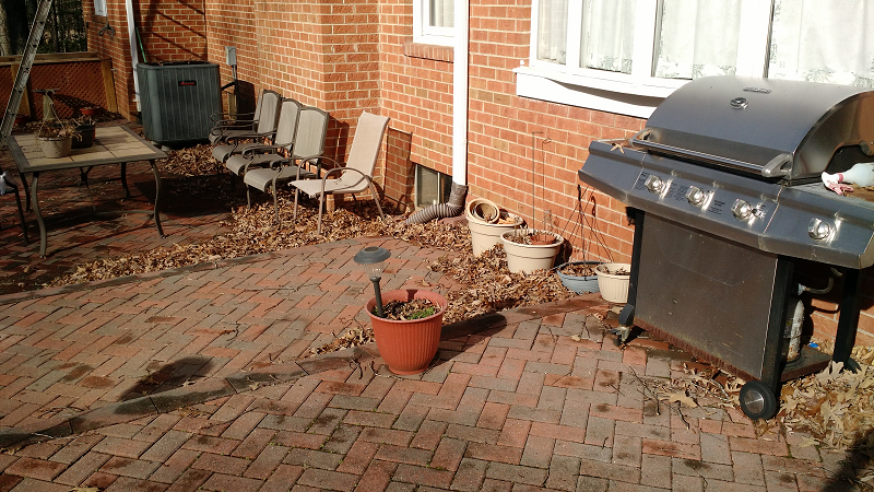 patio before