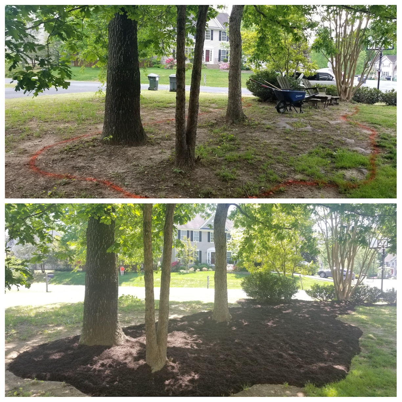 mulch, mulch installation
